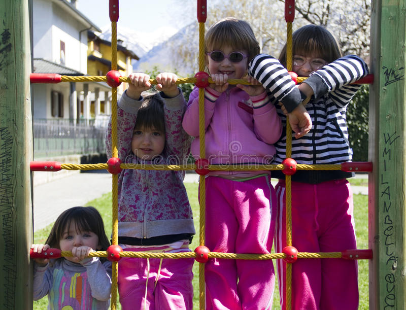 Girls playing stock photo