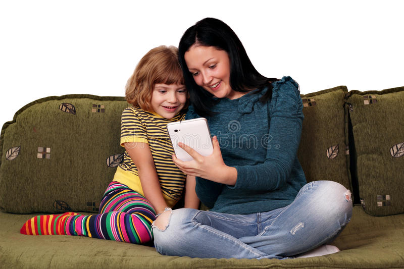 Download Girls Playing With Tablet Pc Royalty Free Stock Photos - Image: 27065728