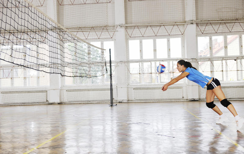 Download Girls Playing Volleyball Indoor Game Stock Photography - Image: 15526482