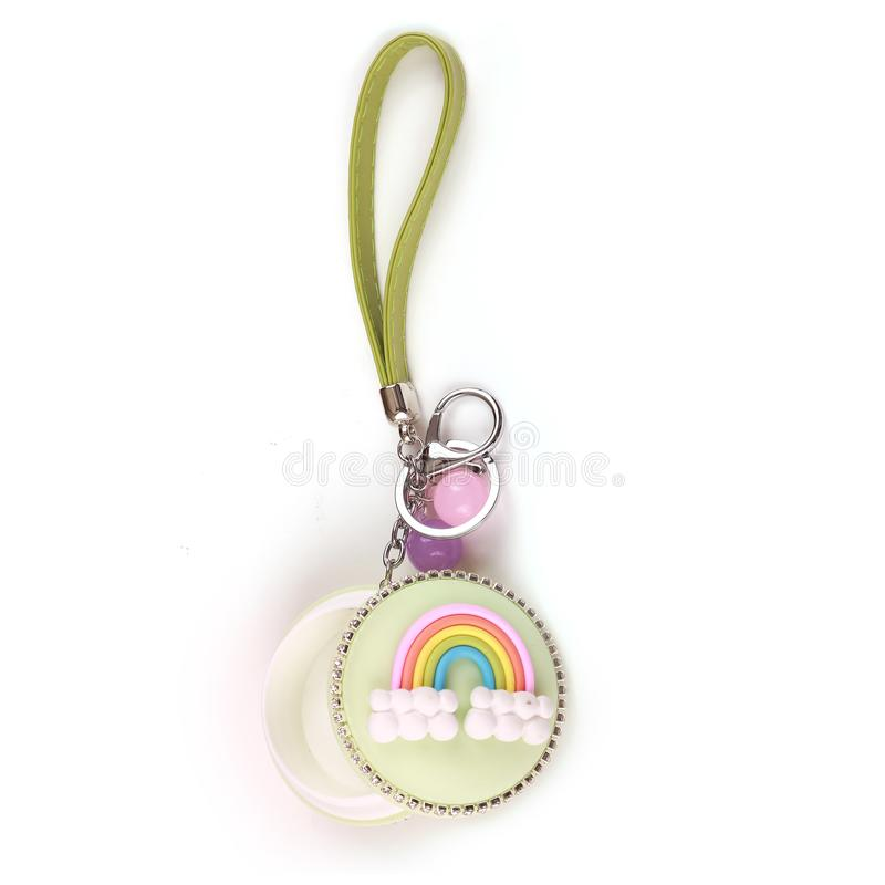 Colorful Coins Case and keys ring royalty free stock images