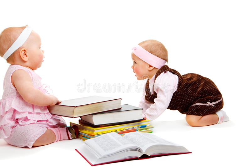 Download Girls reading books stock photo. Image of interest, darling - 13128306