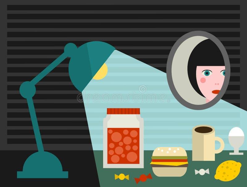 Girls room. vector illustration