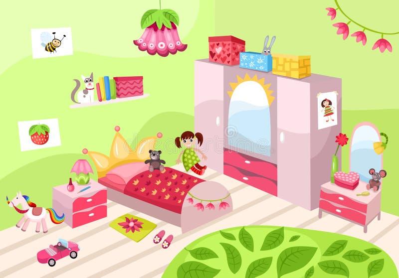 Girls Room Stock Photo
