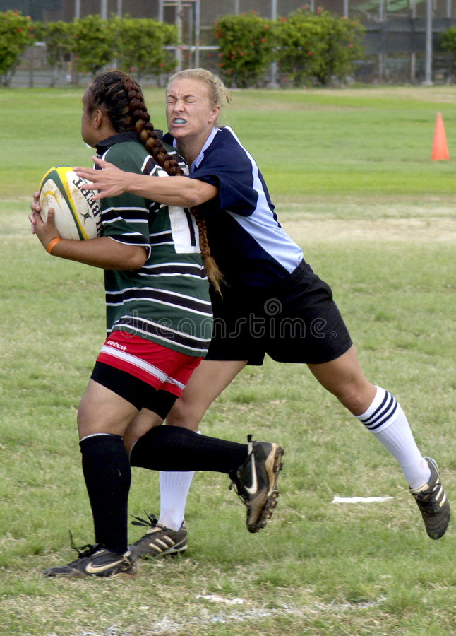 Free Girls Rugby Try Stock Photography - 4678372
