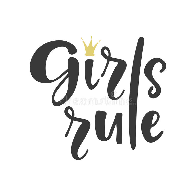 Girls rule poster royalty free illustration