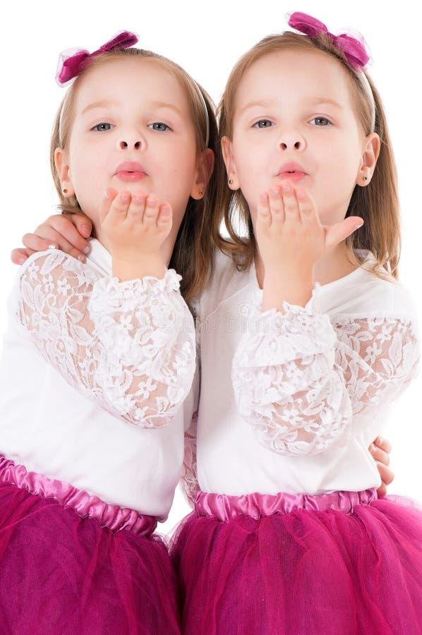 Girls sends kiss royalty free stock image