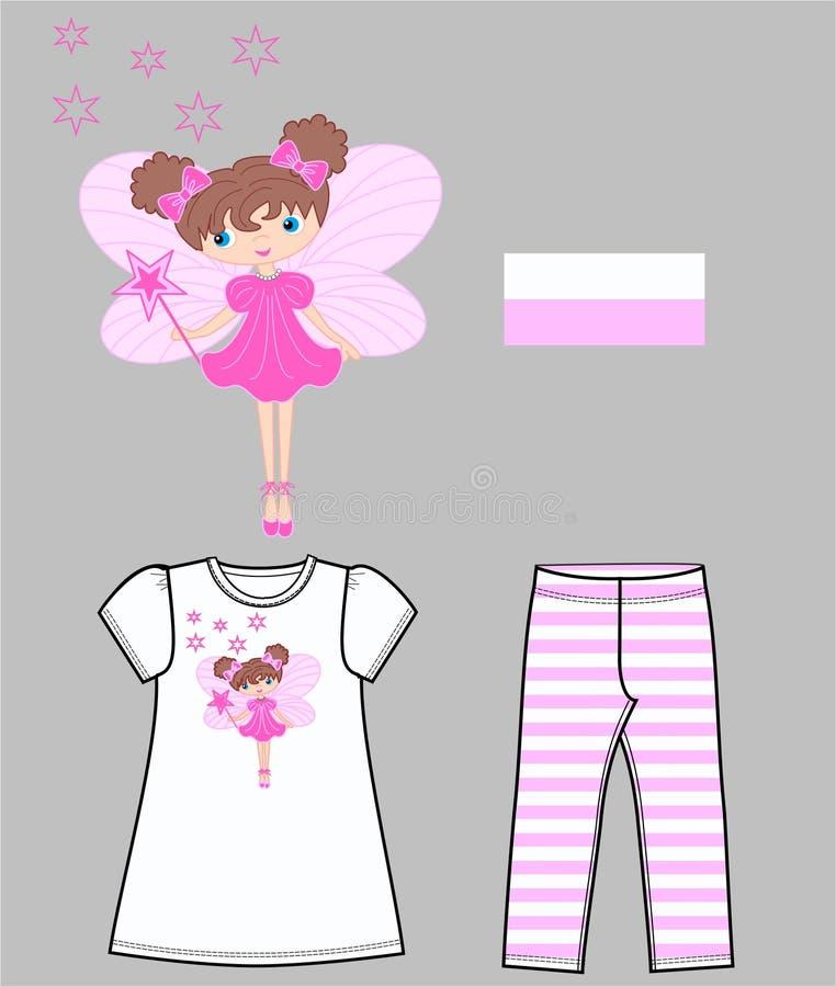 Girls set stock illustration