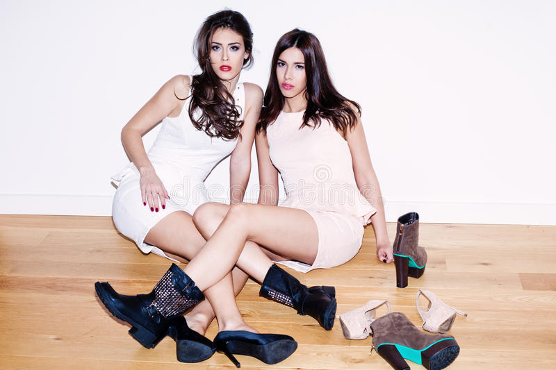 Girls And Shoes Royalty Free Stock Photo