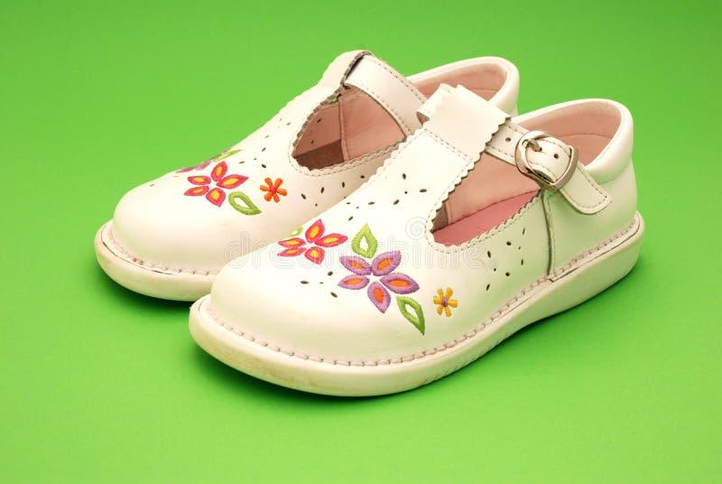 girls shoes royaltyfria bilder