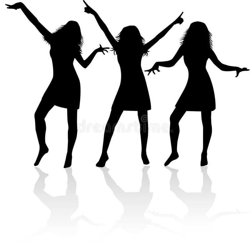 Download Girls Silhouettes Royalty Free Stock Image - Image: 2761416