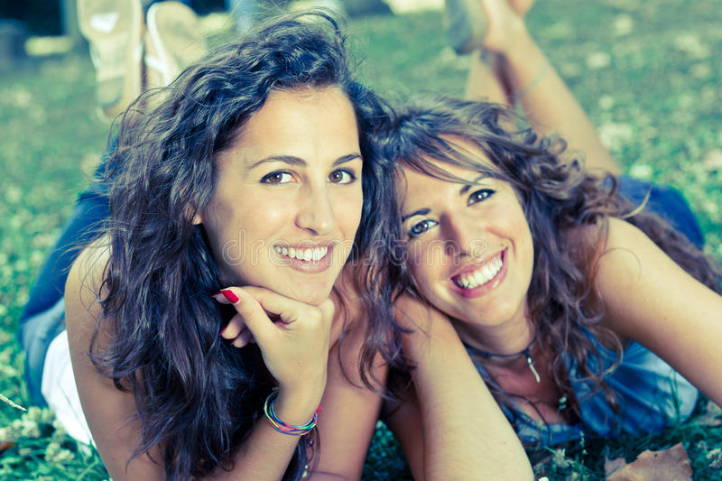Download Girls Smiling stock image. Image of people, love, green - 16245349