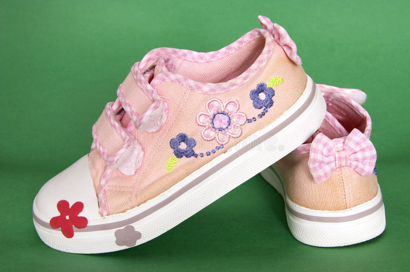 Girls sneakers stock images