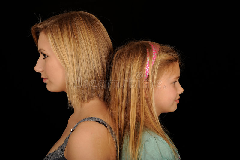 Download Girls Standing Back To Back Stock Image - Image of pose, posed: 9041439