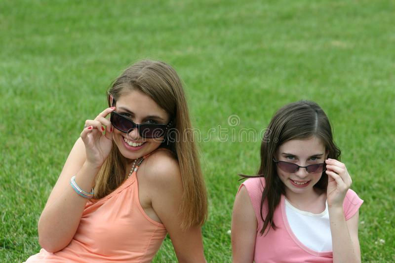 Girls With Sunglasses stock photos