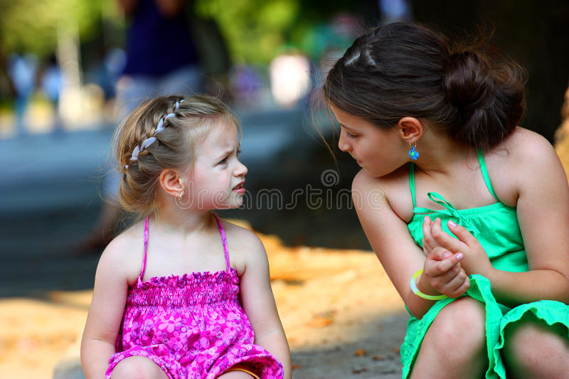 Girls Talking Stock Image