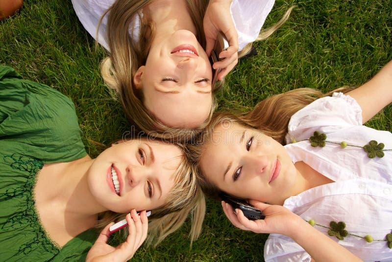 Download Girls talking on mobile stock image. Image of relationship - 14852423