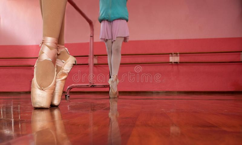 Girls in their ballet class royalty free stock photo