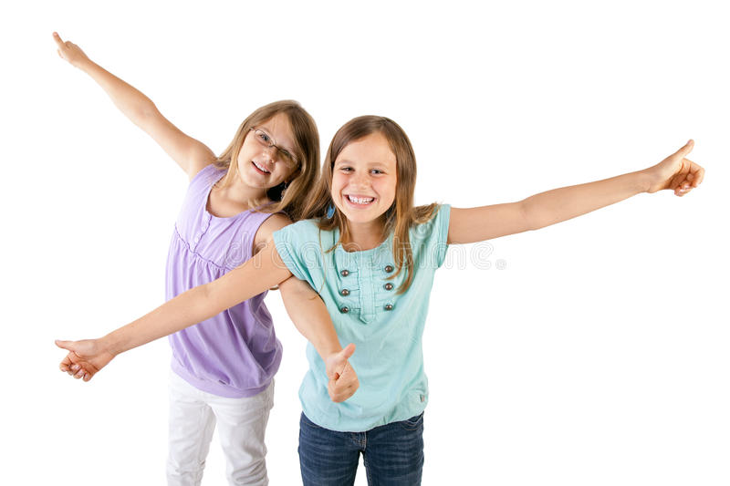 Download Girls With Thumbs Up Stock Image - Image: 26484701