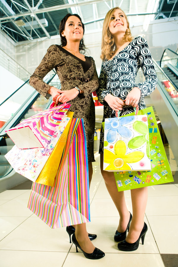Download Girls in the trade centre stock photo. Image of blonde - 5175294