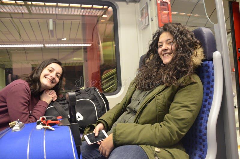 Girls On A Train Free Public Domain Cc0 Image