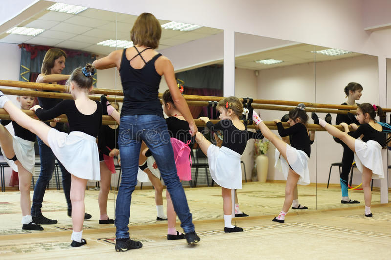 Download Girls Trains With Ballet Teacher Editorial Image - Image: 21460505