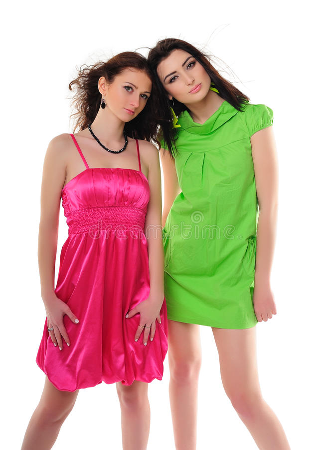 Girls in vintage dresses