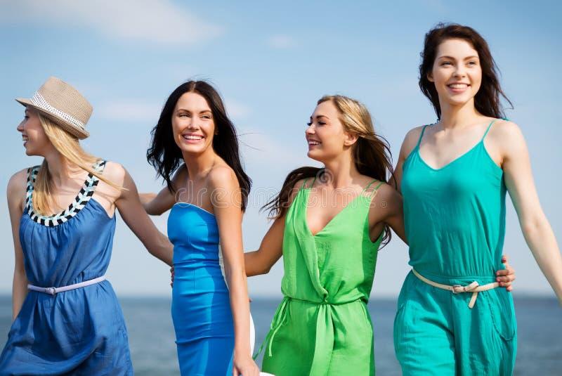 Download Girls Walking On The Beach Royalty Free Stock Image - Image: 33187116