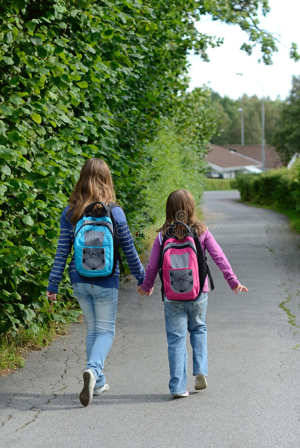 Download Girls On The Way To School Stock Images - Image: 26296164