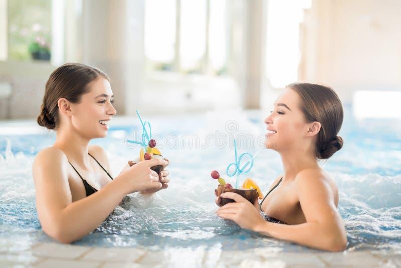 Girls in whirlpool royalty free stock photo