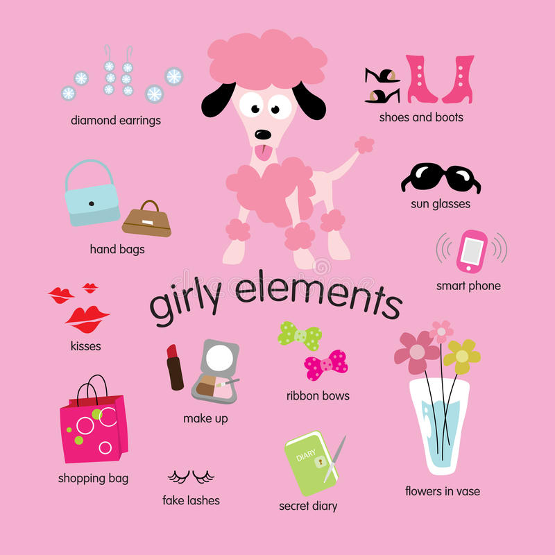Download Girly Elements Set Royalty Free Stock Photos - Image: 9987238