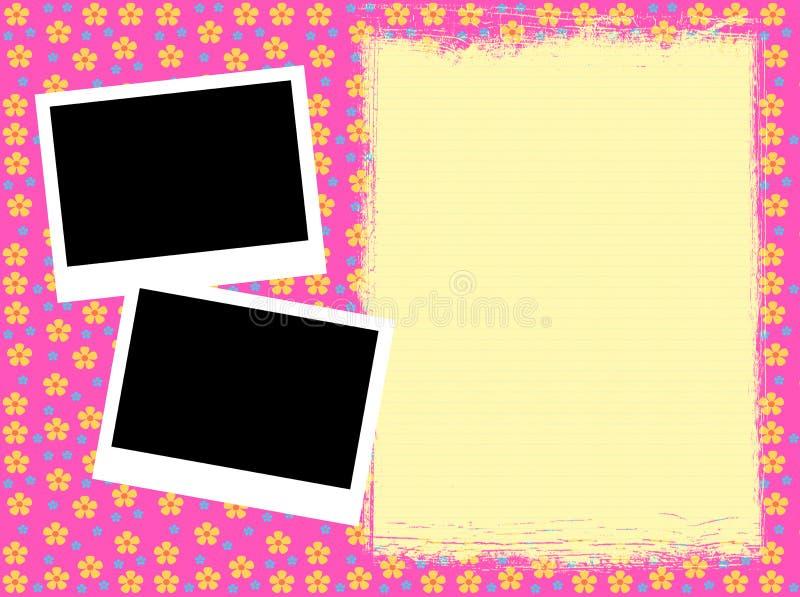 Download Girly framework stock illustration. Image of polaroid - 13836491