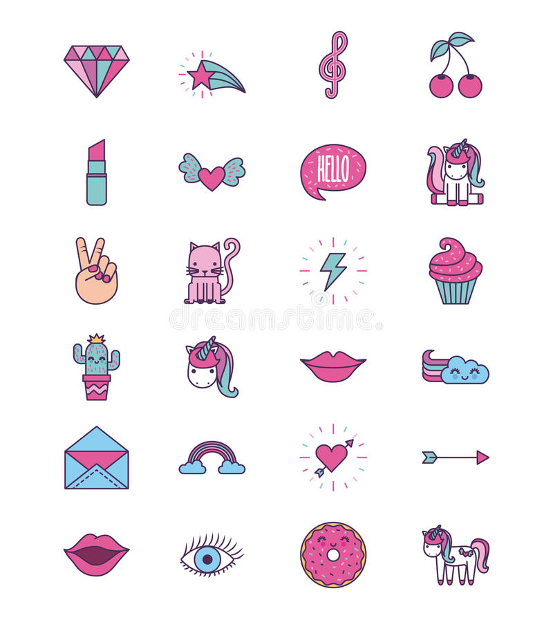 Free Girly Icon Image Stock Photo - 92100330