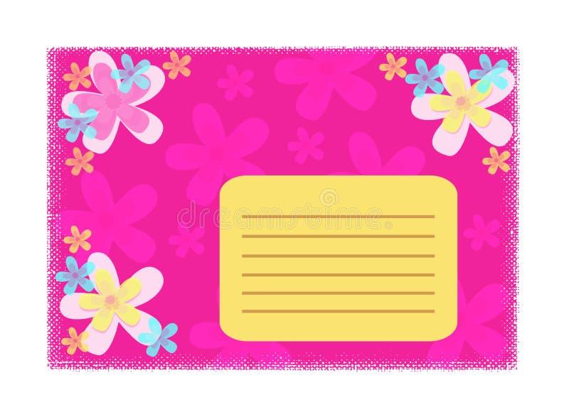 Girly Karte lizenzfreie abbildung