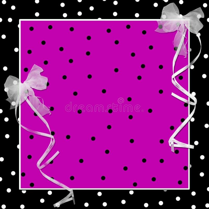 Download Girly Polka-dot Background stock illustration. Illustration of black - 14592485