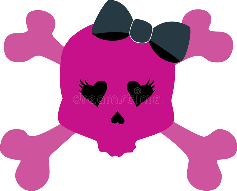 Download Girly Skull with bow stock vector. Illustration of cute - 13415532