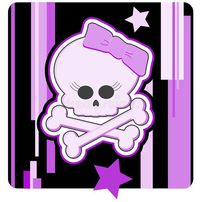 Girly Skull & Crossbones vector illustration