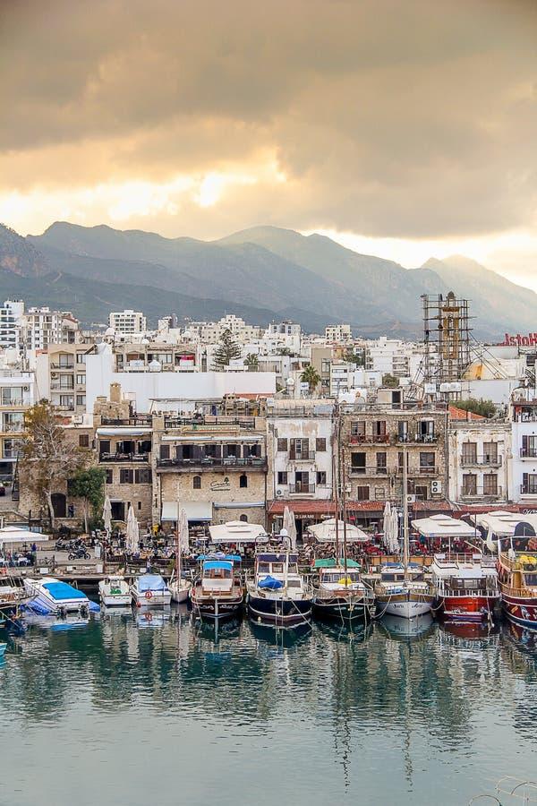 The GIRNE Harbor, CYPRUS royalty free stock photos