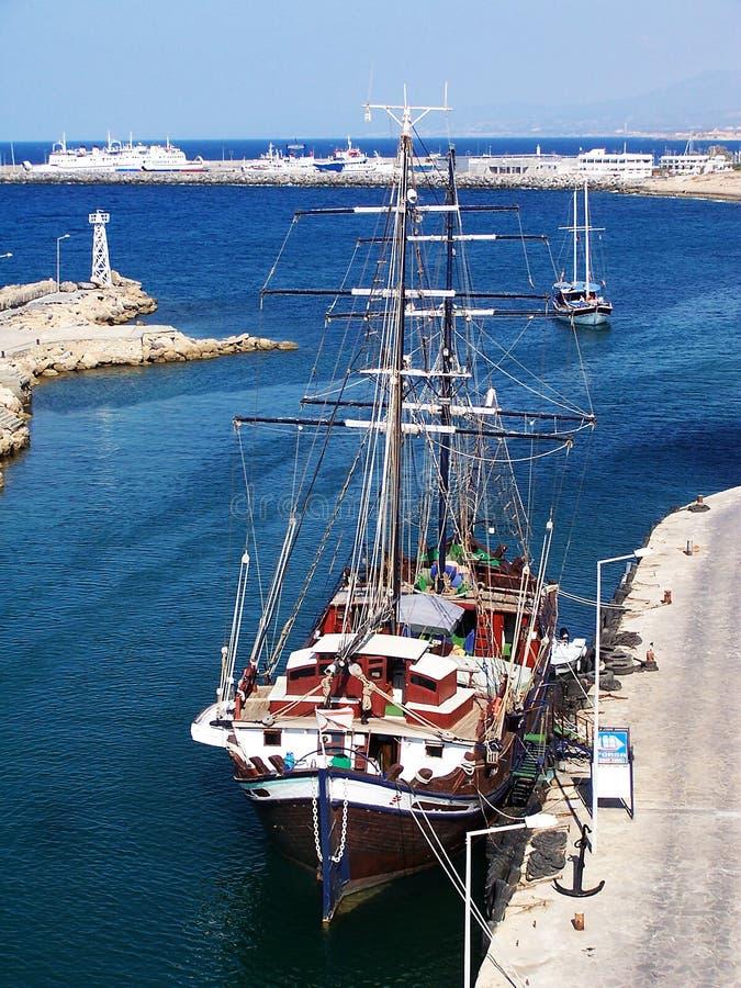 Girne Marina, Northern Cyprus royalty free stock photos