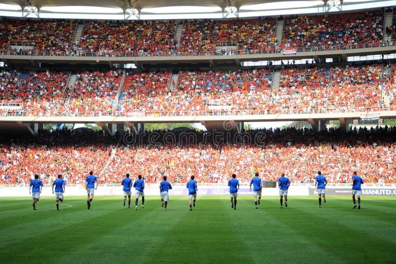 Giro 2009 di Manchester United Asia immagine stock libera da diritti