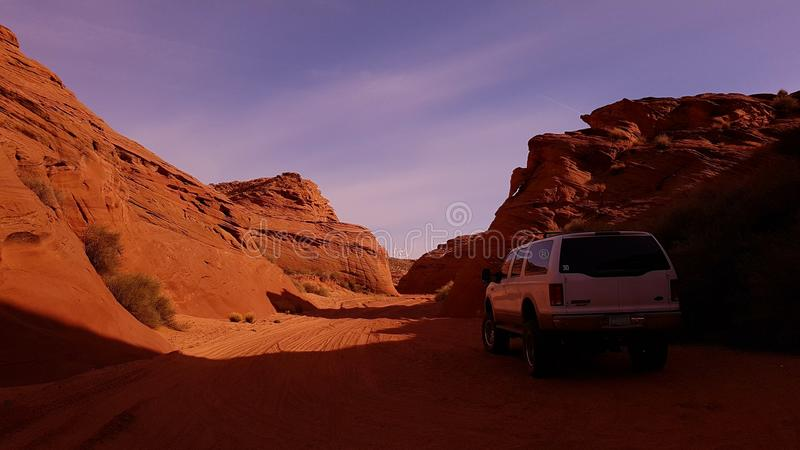 Giro alle terre navajo in Arizona immagine stock