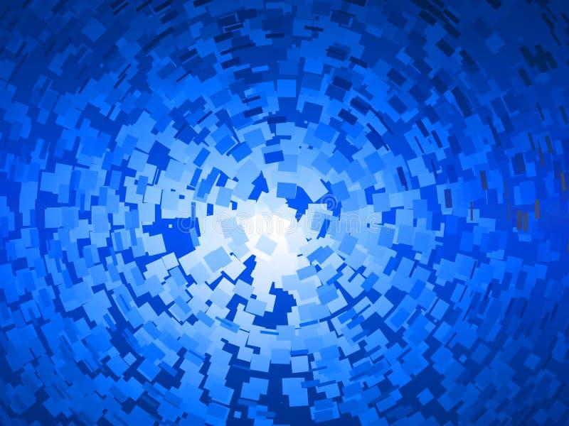 Giro azul dos quadrados ilustração royalty free