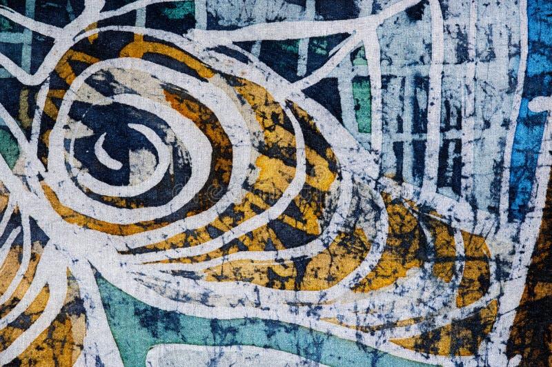Giro, batik caliente, textura del fondo, hecha a mano en la seda fotos de archivo