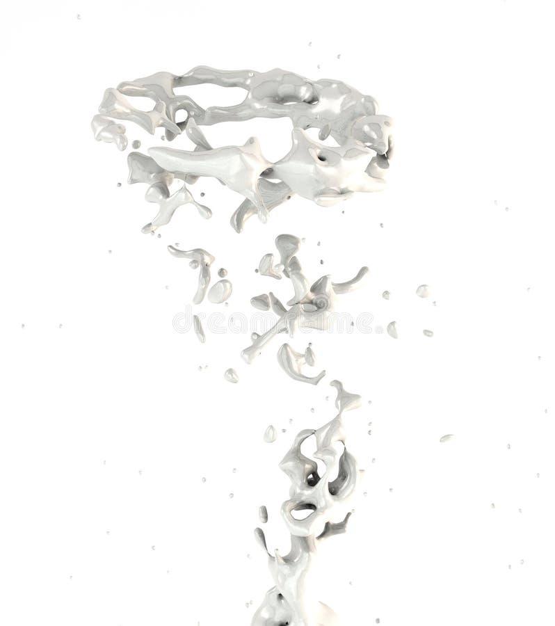Giro branco do respingo do leite ilustração royalty free