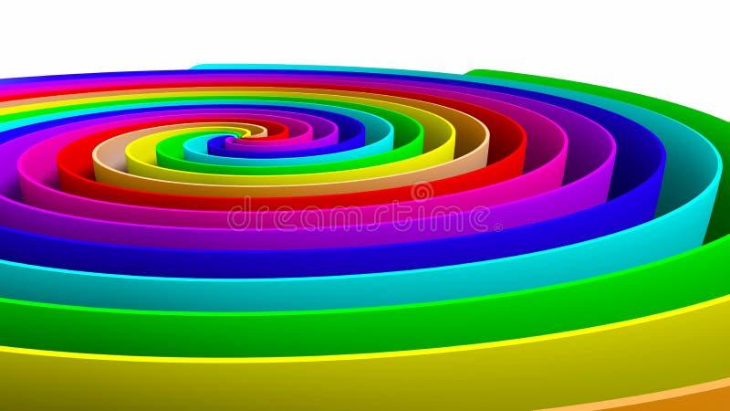 Giro colorido ilustração do vetor