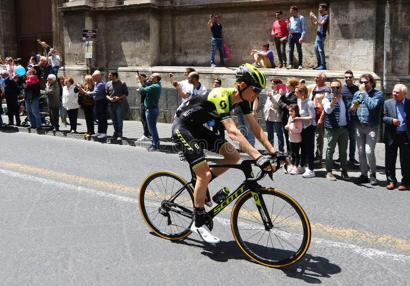 Giro D ` Italië 2018 4de stadium in Catanië, Sicilië royalty-vrije stock afbeelding