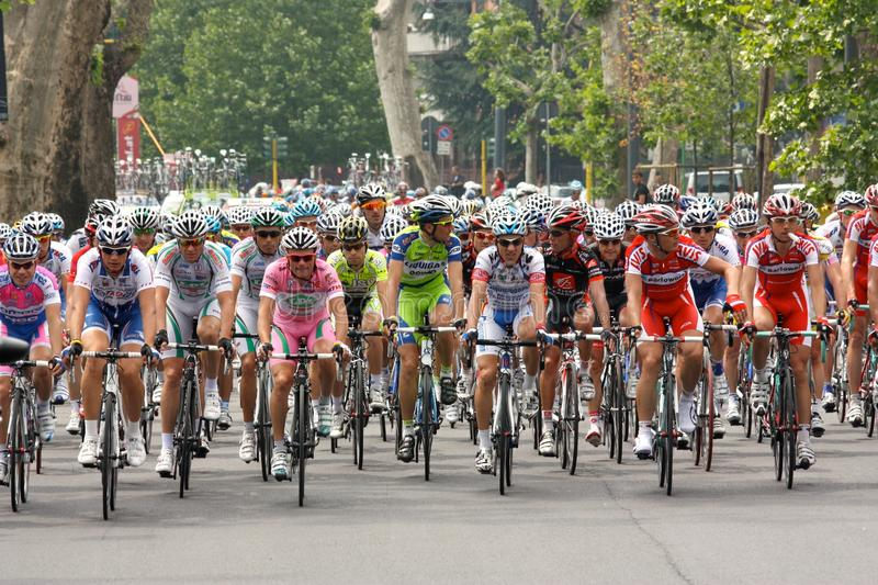 Giro d'Italia 2009 - Race in Milan royalty free stock photography
