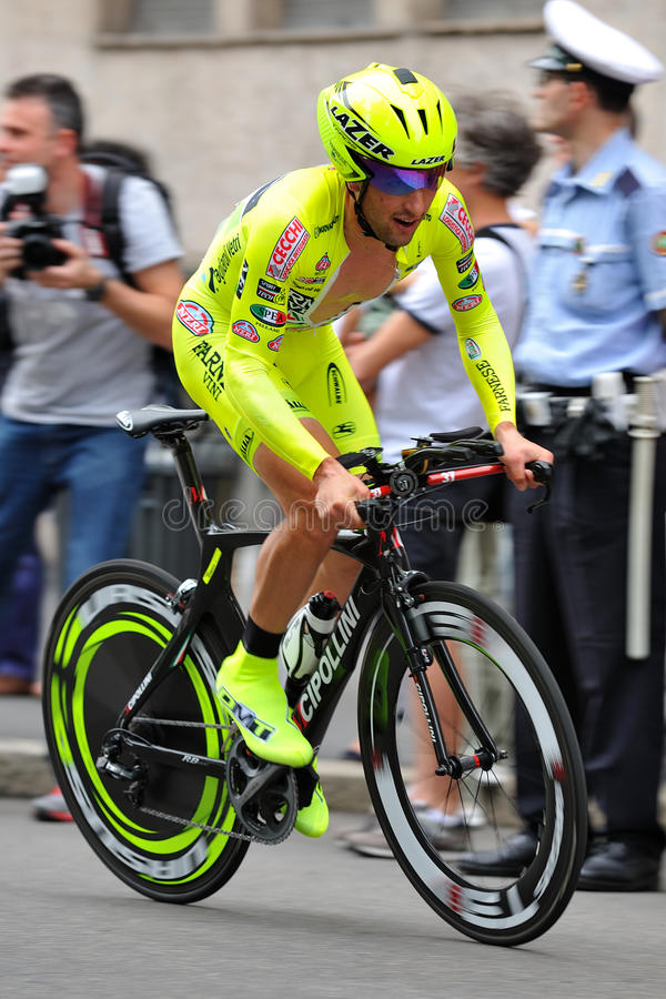 Giro d'Italia 2012 - Milan Time trial. Giro d'Italia professional bicycling race, time trial final day in Milan, Italy, 2012 May 27 royalty free stock photography