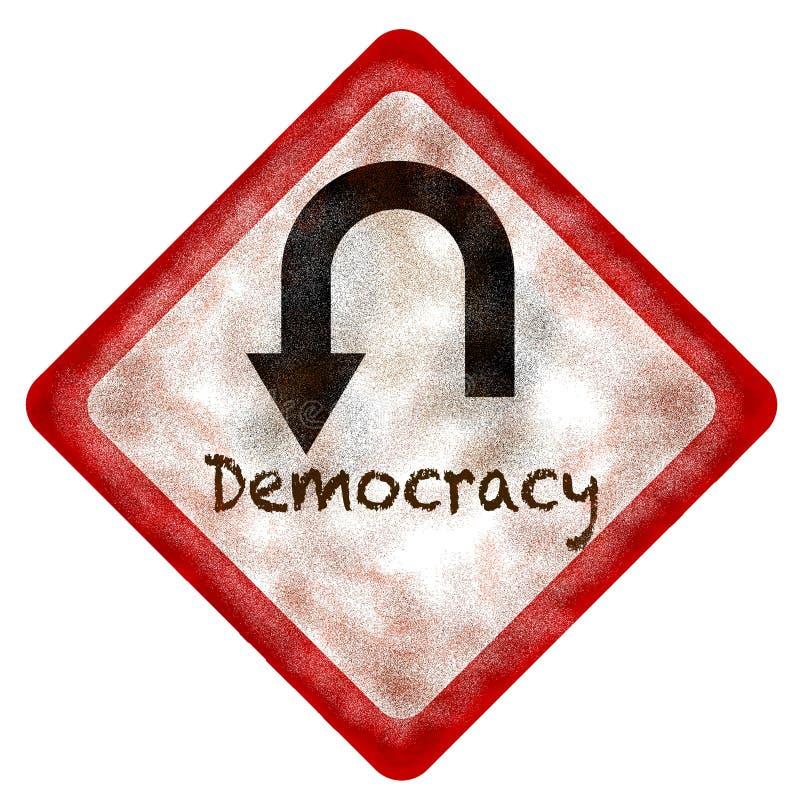 Giro de 180 grados de la democracia ilustración del vector