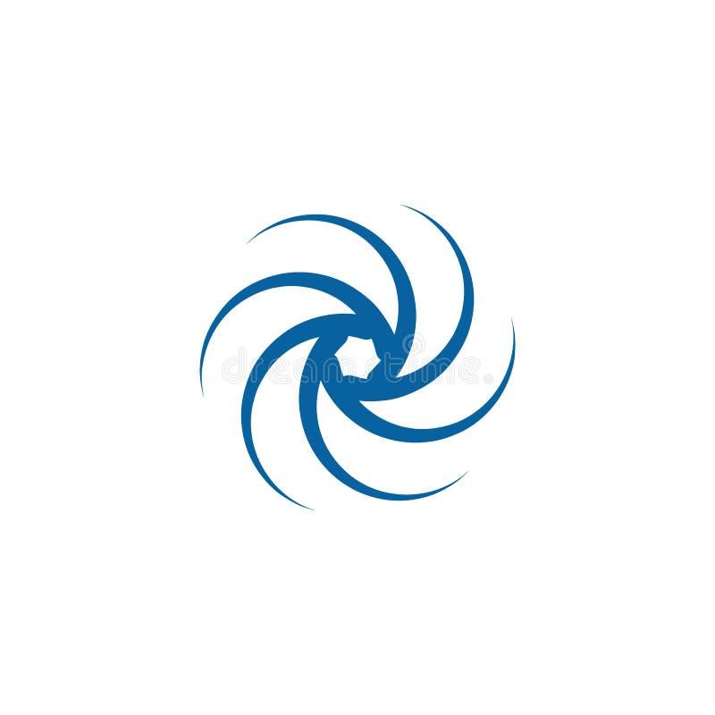 Giro de gerencio Logo Template do Swoosh abstrato ilustração stock