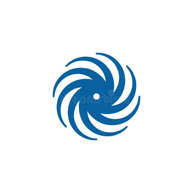 Giro de gerencio Logo Template do Swoosh abstrato ilustração royalty free